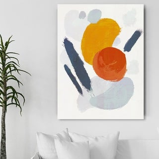 Link to Oliver Gal 'Blanc Order' Abstract Wall Art Canvas Print Paint - Gray, Orange Similar Items in Canvas Art