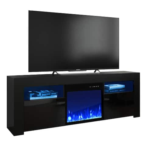 Copper Grove Qorasuv 58-inch Electric Fireplace TV Console