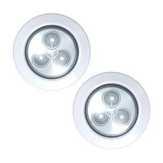 Rite Lite LPL592 Puck Light, LED 3 AAA, White , 2/Pack