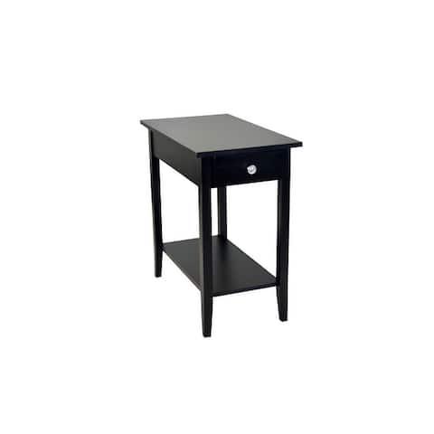 Porch & Den Holly Hill Solid Acacia Recliner End Table