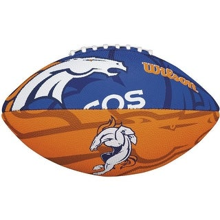 Wilson NFL Team Logo Junior Football (Denver Broncos) - Blue