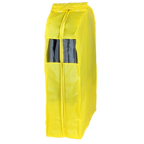 PEVA Transparent Clothing Protector Suit Cover Bag Yellow 108 x 30 x 58cm