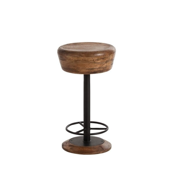 Arteriors 6120 Caymus 24 Tall Solid Wood Bar Stool Natural