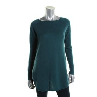 Halogen Womens Wool Blend Shirttail Tunic Sweater - M