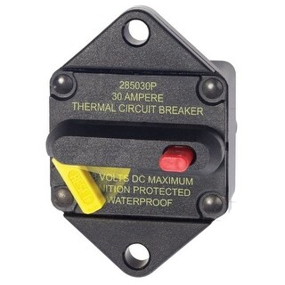 Blue Sea Systems 40609B Blue Sea Systems 285-Series Panel Mount 30A Circuit Breaker