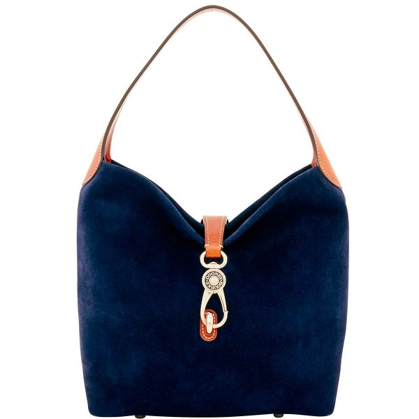 Dooney & Bourke Suede Small Logo Lock Shoulder Bag (Introduced by Dooney & Bourke at $248 in May 2017)