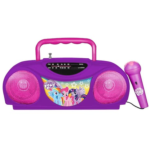 My Little Pony Portable Radio and Karaoke System with Microphone