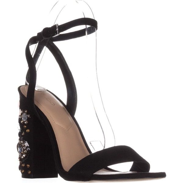 Aldo Luciaa Ankle Strap Sandals, Black - 8 us / 38.5 eu