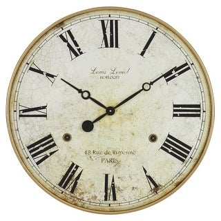 Aspire Home Accents 4783 Leniel 30 Inch Diameter Oversized Analog Wall Mounted Clock