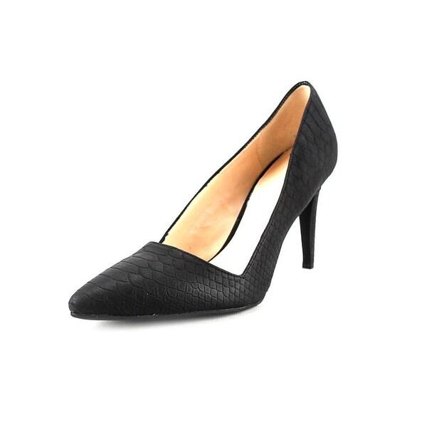 Bar III Joella Women Pointed Toe Synthetic Black Heels