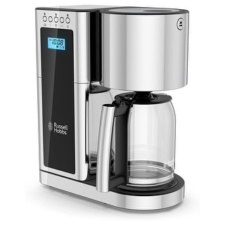 Link to Russell Hobbs Glass 8 Cup Coffee Maker in Black and Stainless Steel Similar Items in Coffee Makers