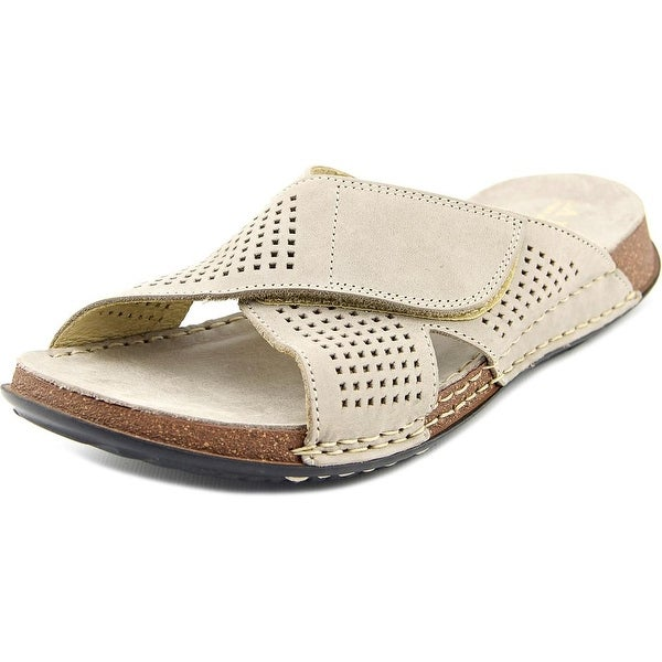 La Plume Summer Open Toe Leather Slides Sandal