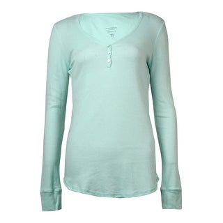 Charter Club Women's Long Sleeves Knit Pajama Henley