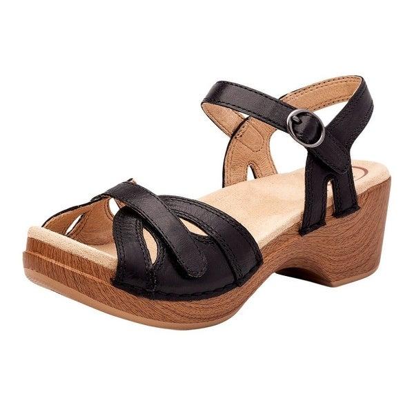Dansko Shoes Womens Unique Sandal Sausalito Season Black