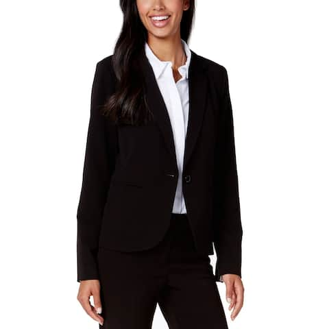 XOXO Rich Black Womens Size XL Notch Lapel Single Button Blazer