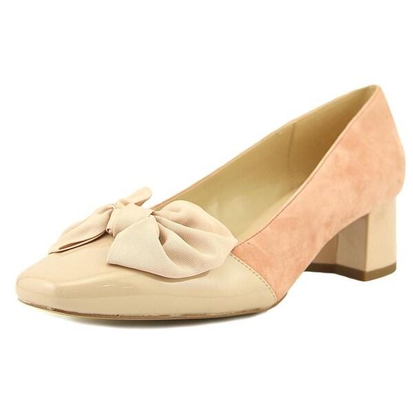 Isaac Mizrahi Julia Pump Women Round Toe Suede Pink Heels