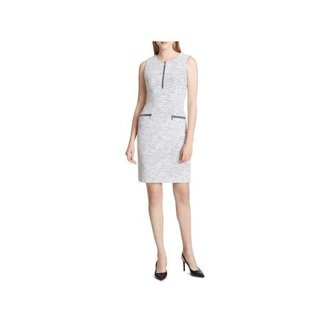 Calvin Klein Womens Cocktail Dress Jacquard Mini