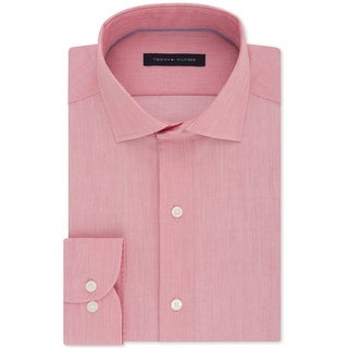Tommy Hilfiger Mens Non-Iron Stretch Button Up Dress Shirt