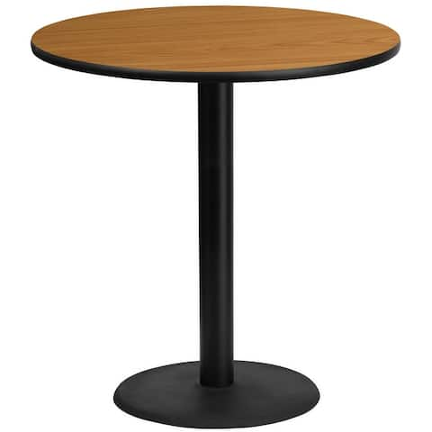 """42"""" Round Laminate Table Top with 24"""" Round Bar Height Table Base"""