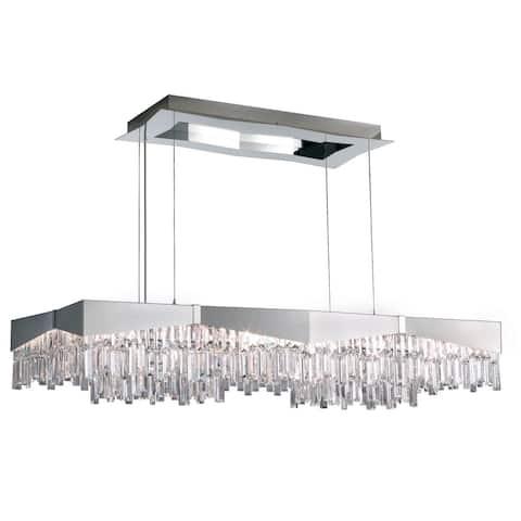 Schonbek Riviera Brushed Staless Steel Crystals Swarovski Pendant - One Size