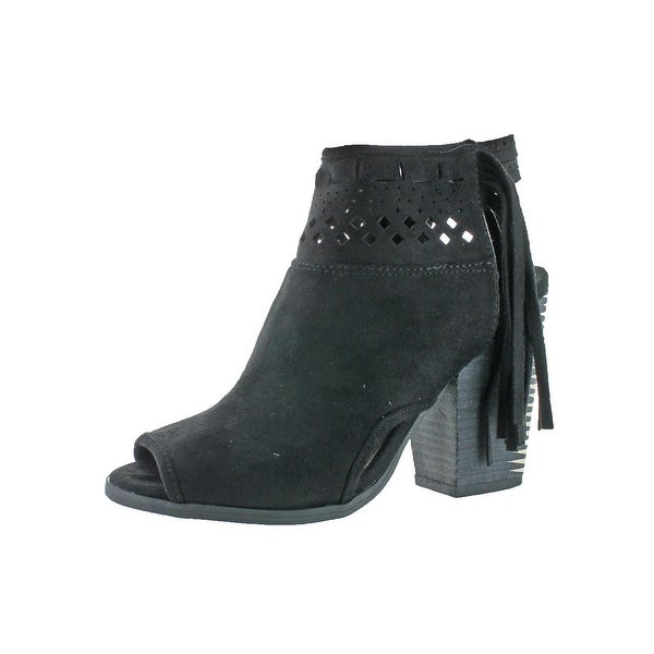 Not Rated Womens Chiara Ankle Boots Faux Suede Perforated