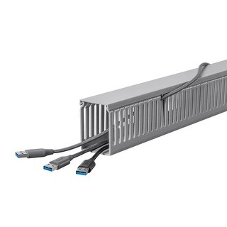 Monoprice Open Slot Wiring Raceway Duct with Cover, 6 Feet Long