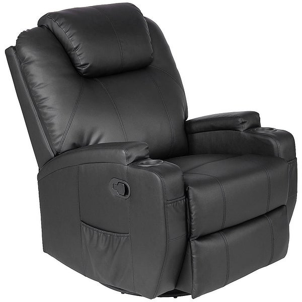 Shop Costway Electric Massage Recliner Sofa Chair Heated 360 Degree