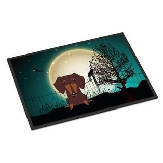 Carolines Treasures BB2321JMAT Halloween Scary Dachshund Chocolate Indoor or Outdoor Mat 24 x 0.25 x 36 in.