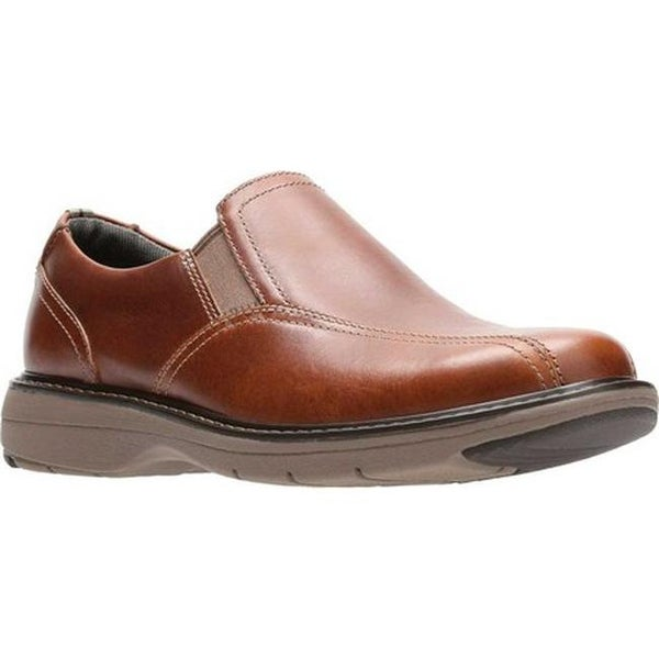5babf9be Shop Clarks Men's Cushox Step Slip-On Dark Tan Full Grain Leather ...