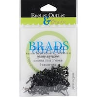 Eyelet Outlet Round Brads, 4mm, Black