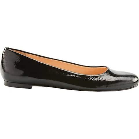 a620c0b230 Walking Cradles Women's Bronwyn Ballet Flat Black Tumbled Patent Leather