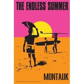 Montauk, New York - The Endless Summer - Original Movie Poster (Acrylic Serving Tray)