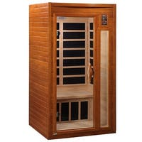 Dynamic DYN-6106-01 1 to 2-person Far Infrared Hemlock Wood Sauna - White