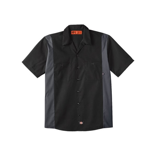 Industrial Colorblocked Short Sleeve Shirt. Opens flyout.
