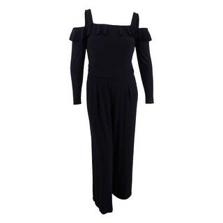 American Living Women's Off-The-Shoulder Wide-Leg Jumpsuit - Black