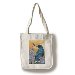 Denali National Park - Ravens - LP Artwork (100% Cotton Tote Bag - Reusable)