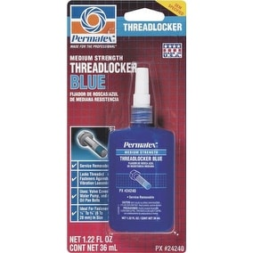 Permatex 24240 Medium Strength Threadlocker, Blue, 36 ml