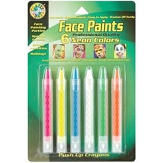 Neon - Face Paint Push-Up Crayons 6/Pkg
