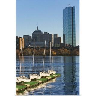 """""""Massachusetts, Boston skyline"""" Poster Print"""
