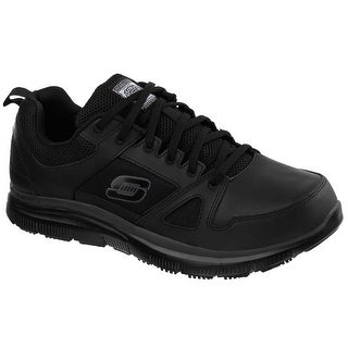 Skechers 77040 BLK Men's FLEX ADVANTAGE SR Work