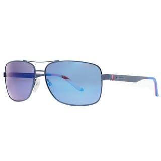 CARRERA Rectangular 8014/S Men's IDK/5X Matte Blue Blue Sunglasses - 61mm-14mm-140mm