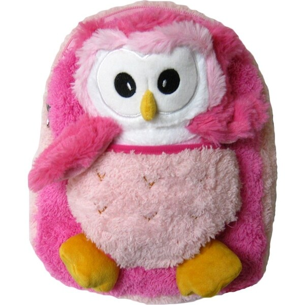Shop Kreative Kids Girls Pink White Owl Plush Cute Stylish Animal