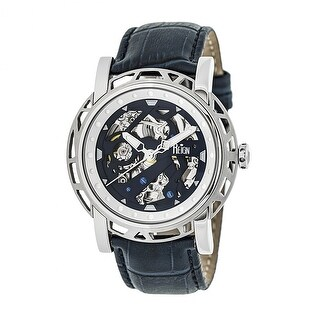 Reign Stavros Men's Automatic Watch, Genuine Leather Band, Sapphire-Coated Crystal, Luminous Hands