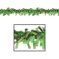 Club Pack of 24 Light Green and Brown Festive Tissue Festooning Decorations 25'