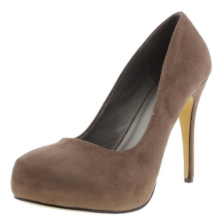 Michael Antonio Womens Love Me 2 Faux Suede Pumps Platform Heels