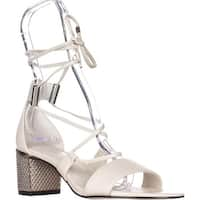 Calvin Klein Natania Lace-Up Dress Sandals, Soft White