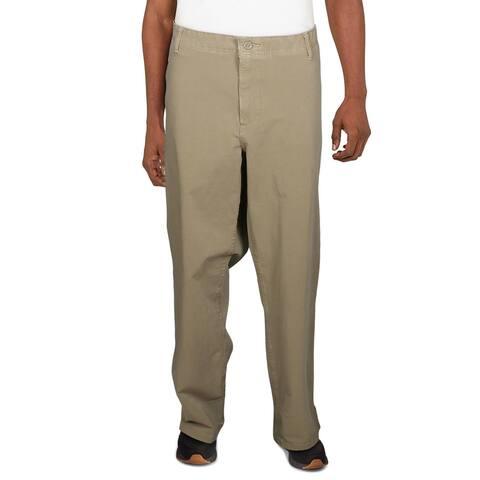 Dockers Mens Big & Tall Khaki Pants Flex Straight Leg - Tan - 44/34