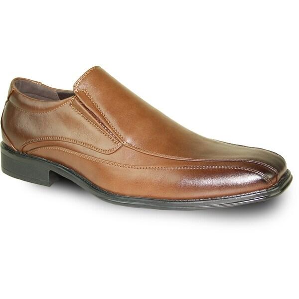 BRAVO Men Dress Shoe MILANO-7 Loafer Brown