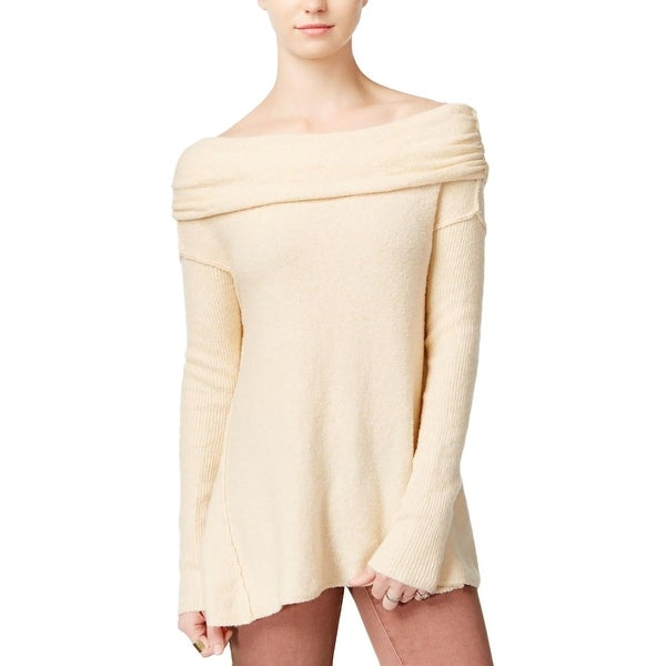 4a714926ba Shop Free People Womens Pullover Sweater Boucle Cowl Neck - Free ...
