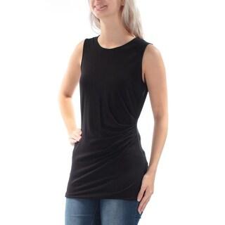 ALFANI Womens New 1105 Black Sleeveless Jewel Neck Casual Top S B+B